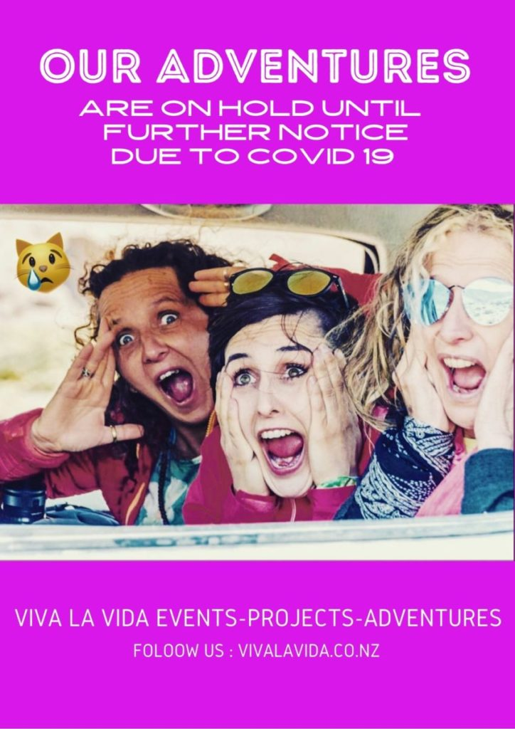 We have all adventures on hold until further notice, however, our events are still on!! check it out!
